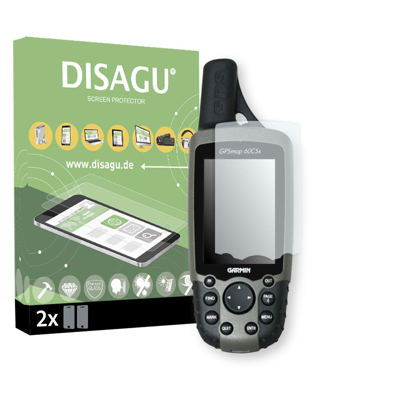 DISAGU Garmin GPSMAP 60 CSX Protection d'écran - 2X Souple Tempered Glass pour Garmin GPSMAP 60 CSX Protection en Verre Dureté du Verre 9H