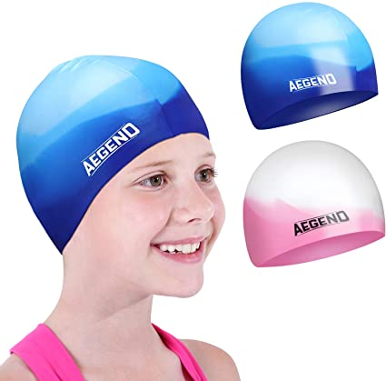 Boy Girls Silicone Swimming Goggles /& Swim Cap for Long//Short Hair Pink Blue