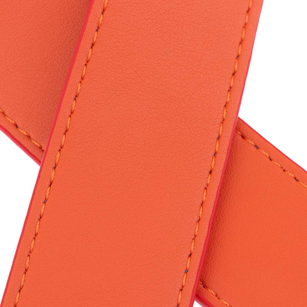 Blue and Orange Fityle Women Girls Leather Strap Wide Crossbody Shoulder Bag Handbag Purse Handle