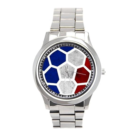 blue5 mejor muñeca relojes relojes de acero inoxidable fútbol Copa del Mundo de Francia: Amazon.es: Relojes