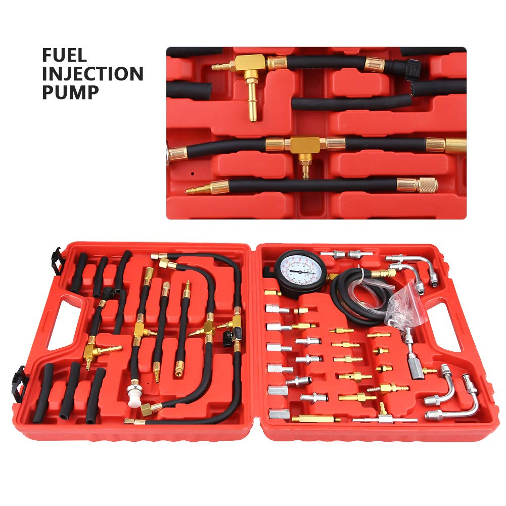 Acouto 46pcs Universal Fuel Pressure Gauge 0-140PSI AC Manifold Gauge Set Car Tools by Acouto (Image #2)