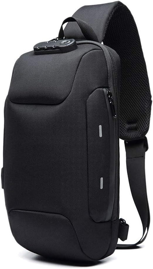 Anti-theft USB Charging Backpack With 3-Digit Lock Shoulders Bag Waterproof US