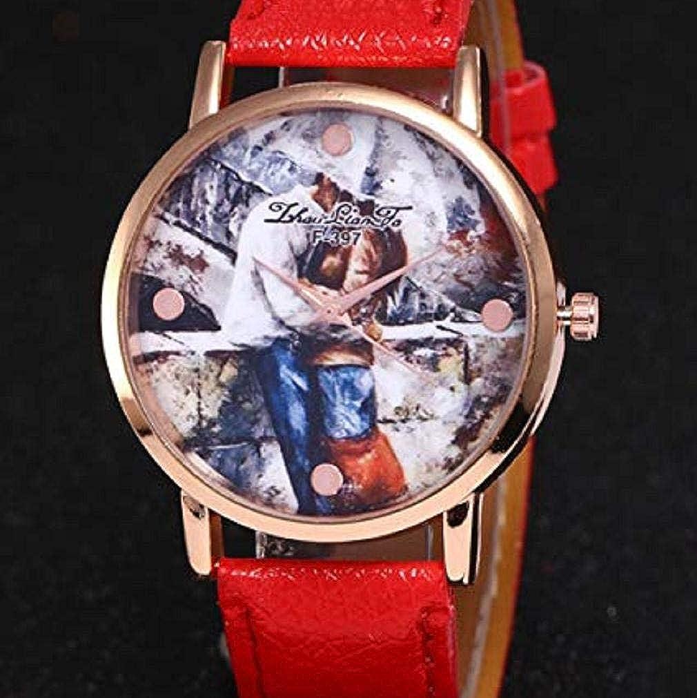Scpink Relojes de Cuarzo para Mujeres, Liquidación analógica a la Venta Patrón de Amantes Relojes para Mujeres Relojes para Mujeres Relojes de Cuero para ...