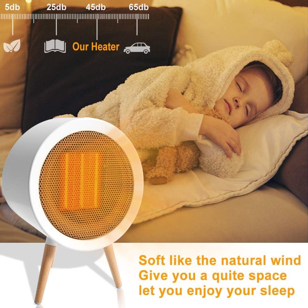 Schreibtisch 2020 Heizl/üfter Energiesparend Schlafzimmer Heizung Elektrisch mit Automatischer /Überhitzungs- und Ausschaltschutz&Timing-Funktion f/ür Wohnzimmer ZOTO 1000W 3 Modes Keramik Heizl/üfter