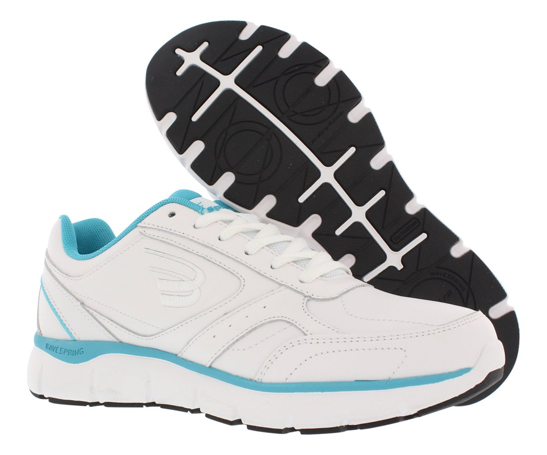 Spira WaveWalker Men's Slip Resistant Walking Shoe B07B9P97WM 9 M US|White/Aqua