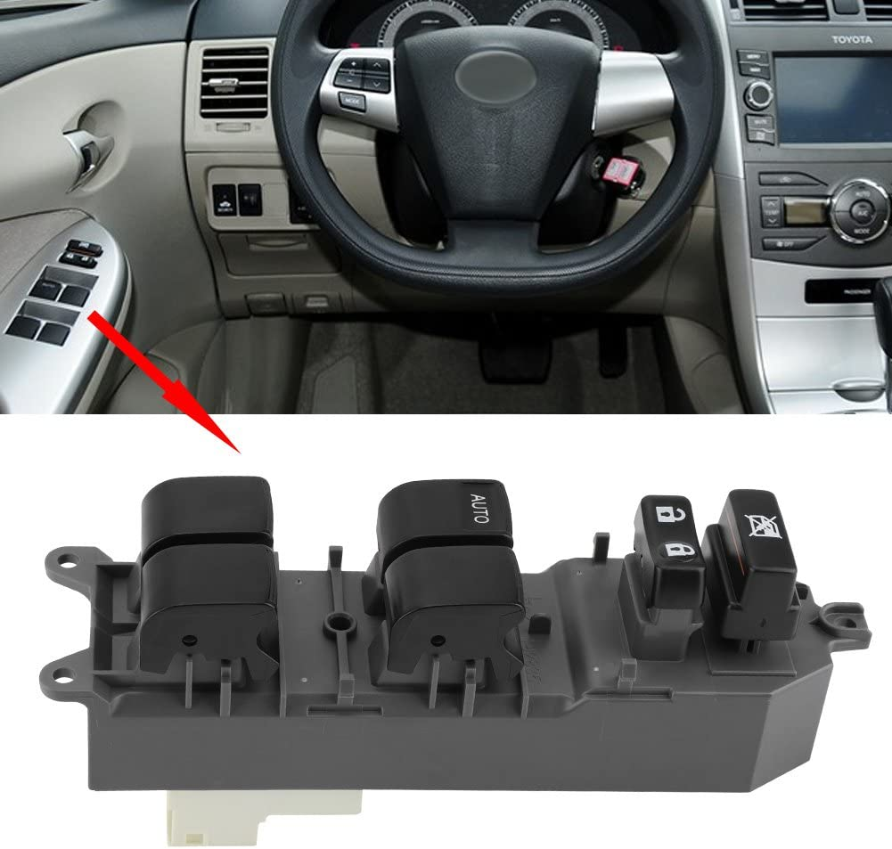 Cuque 84820-06100 Power Window Switch Plastic Car Power Master Window Control Switch Button for RAV Camry Corolla BJ 2005-2015
