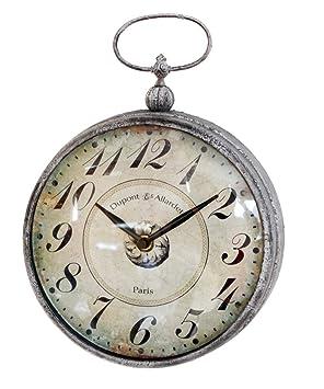 Reloj reloj de bolsillo para colgar en la pared de metal con asa, 8,5 by 11.625-inch: Amazon.es: Hogar