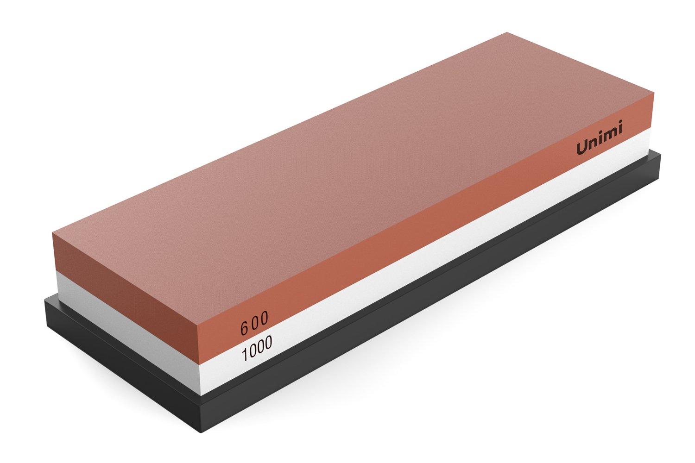 Whetstone Knife Sharpener, Unimi Professional Sharpening Stone Water Stone For Knives (600/1000 Grit)
