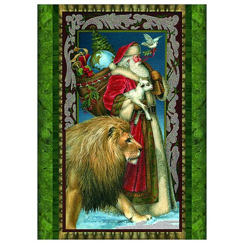 Boxed Christmas Cards - SANTA, LION, LAMB - 14 Pack (Inside Of Christmas Cards Sayings)