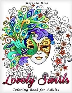 Amanda Neel Happy Coloring Lovely Swirls Book For Adults