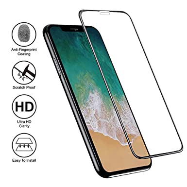 Amazon.com: TangDirect 43237-2 iPhone X/XS Screen Protector, Premium 9H Hardness, Ultra Clear, Anti-Scratch, Accurate Touch Black, Ultra-Thin (2 Pack), ...
