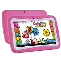 Niños Tablet Android 7.1, 7 pulgadas, pantalla HD, Quad Core, tableta para niños, 8 GB ROM, con conexión WiFi, cámara dual, Bluetooth, educativo, modelo de pantalla táctil para niños, control parental