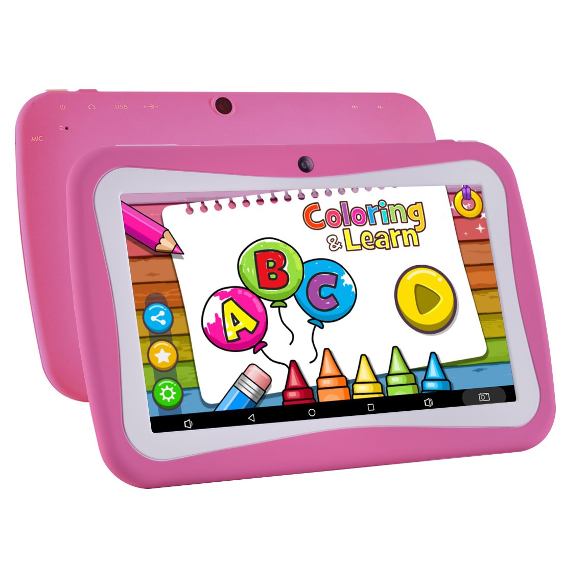 Kids Tablet Android 7.1, 7 Inch, HD Display, Quad Core, Children's Tablet, 1GB RAM + 8GB ROM, with WiFi, Dual Camera, Bluetooth, Educational, Multi Touch Screen Kid Model, Parental Control …