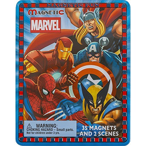 Magnetic Fun Travel Tin: Marvel Super Heroes Marvel Heroes Scene
