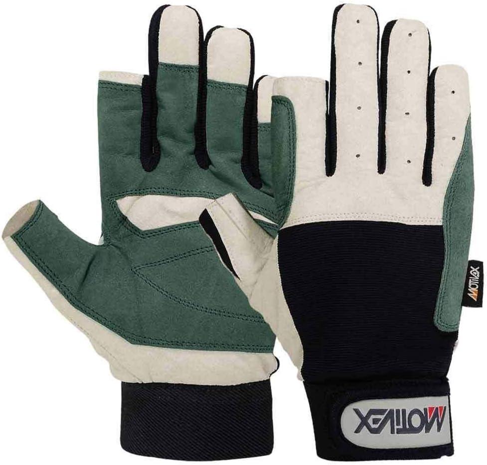 MRX BOXING /& FITNESS Mens Sailing Gloves Deckhand Gripy Glove White//Blue