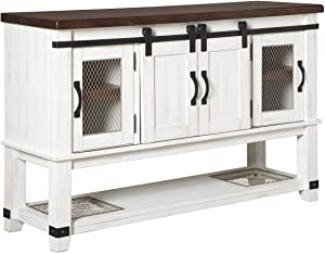 Signature Design By Ashley - Valebeck Dining Room Server - Casual Style - White/Brown