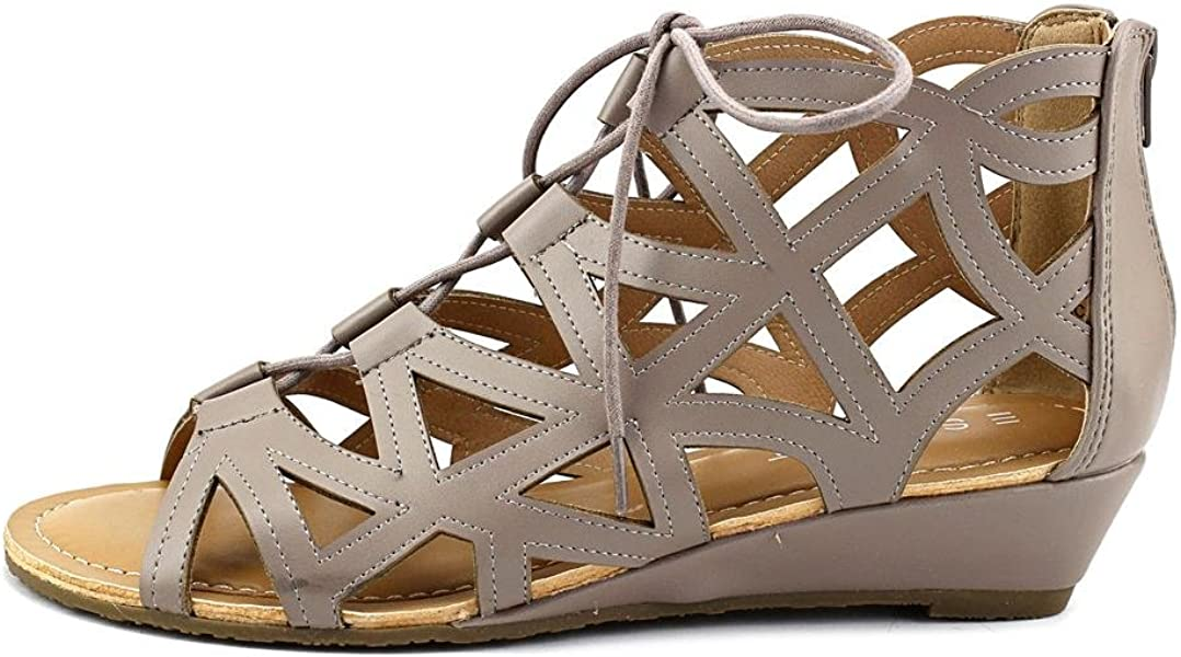 bc22456040 Esprit Cacey Lace-Up Wedge Sandals Elephant 11M. Back. Double-tap to zoom