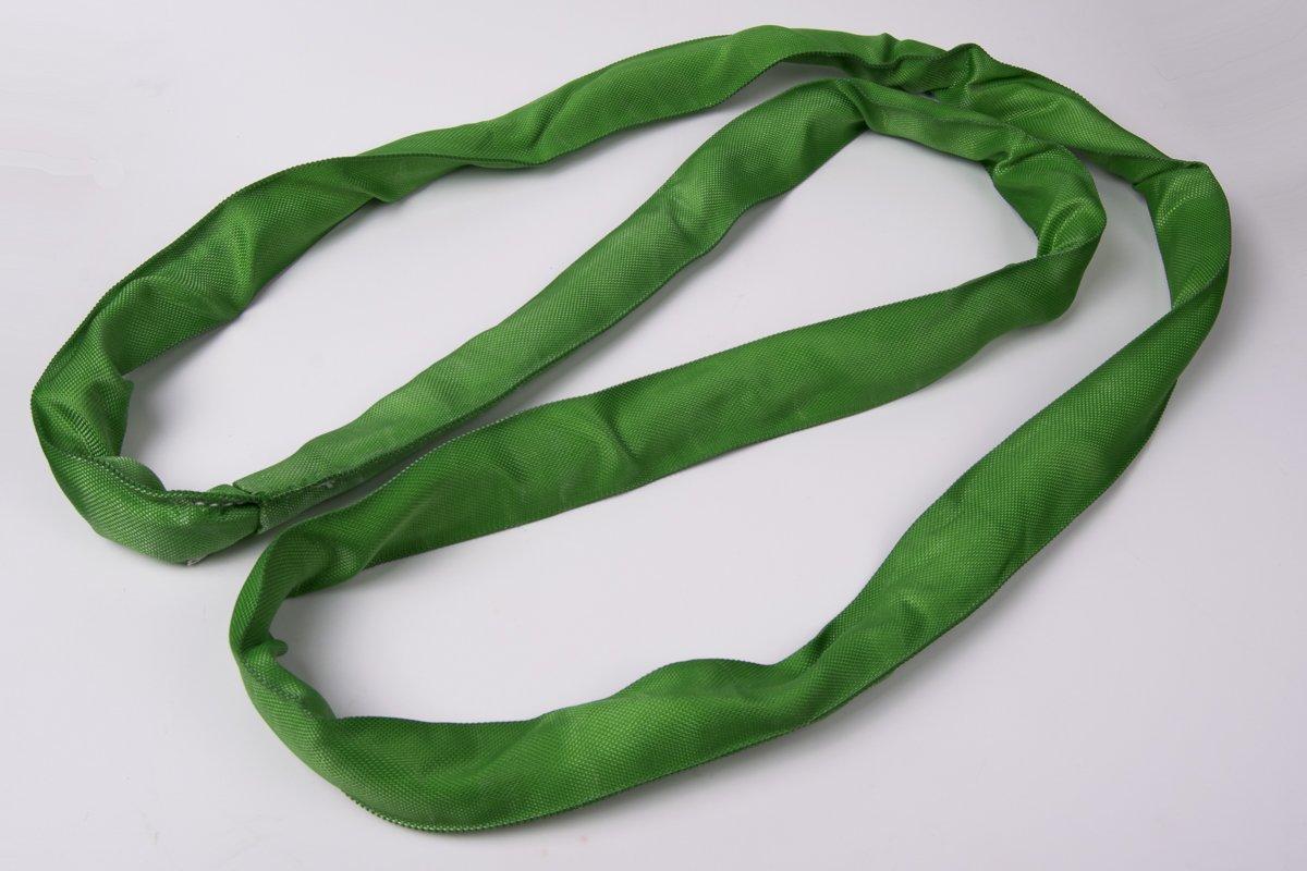 American Industrial // 7//8 Width // Endless Polyester Round Sling Green // 8 Ft Long // En60X8 // 5,300 Lbs Vertical