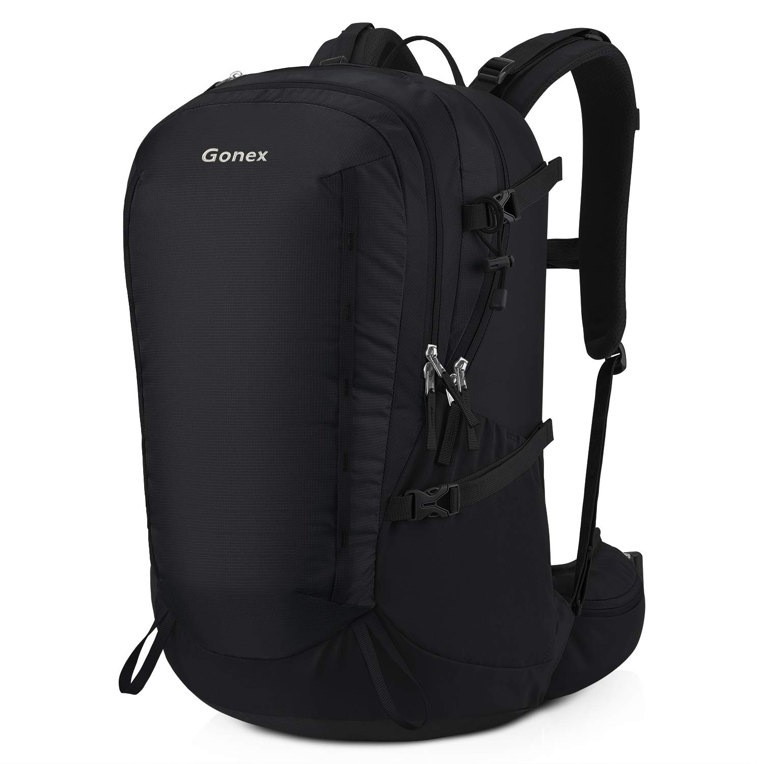 Gonex 40L Hiking Backpack, Outdoor Travel Backpack with Rain Cover for Climbing, Camping, Travelling Black