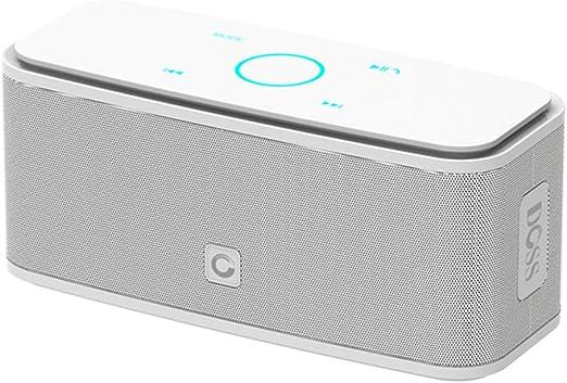 AOEIUV Caja de Sonido Control táctil Altavoz Bluetooth 2 * 6W Altavoces inalámbricos portátiles Caja de Sonido estéreo con Bajos y micrófono Incorporado,Red: Amazon.es: Hogar