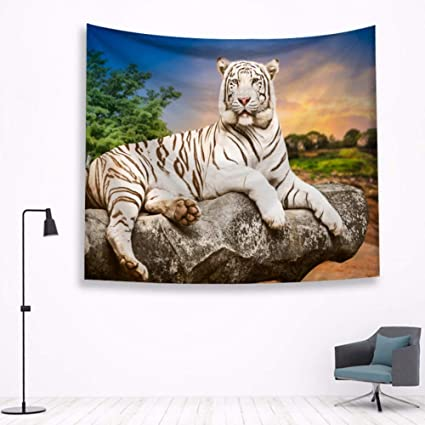 Amazon.com: LLLYZZ Tiger Tapestry Wall Hanging Bohemian ...