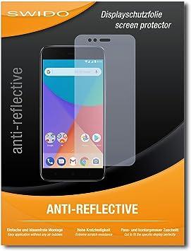 SWIDO Protector de Pantalla para Xiaomi Mi A1 [Anti-Reflex ...
