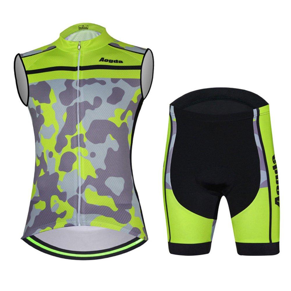 ノースリーブCycling Jersey aogdaメンズ自転車バイクシャツベスト服Biking自転車ジャケットTight B06ZY1F35S Medium|9 Vest Suit 9 Vest Suit Medium