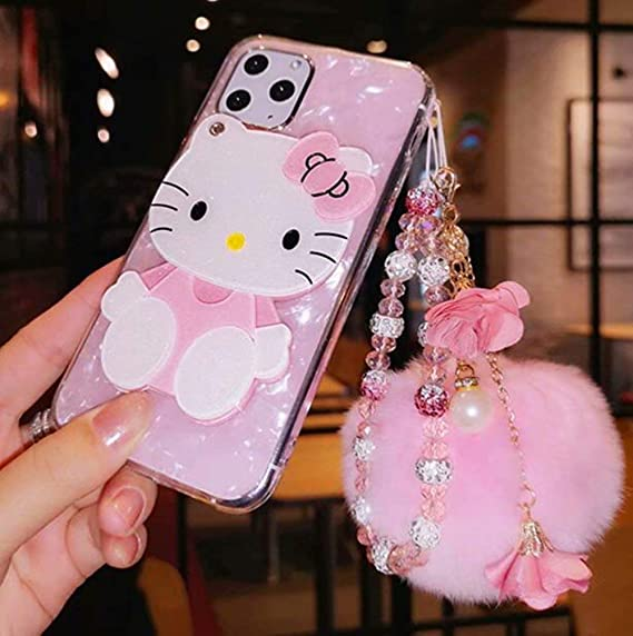 Cute Hello Kitty Crystal Pearl 3D Case