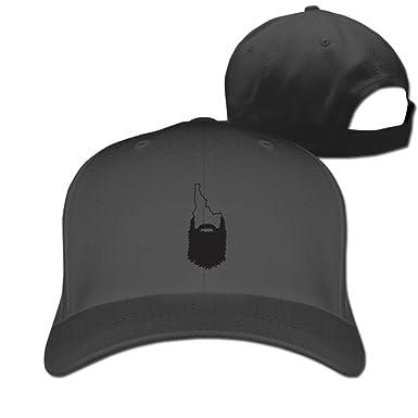 598701edf90 HDRAY Unisex Adult Idaho Beard Outline Plain Baseball Cap Adjustable  Snapback Hat Black