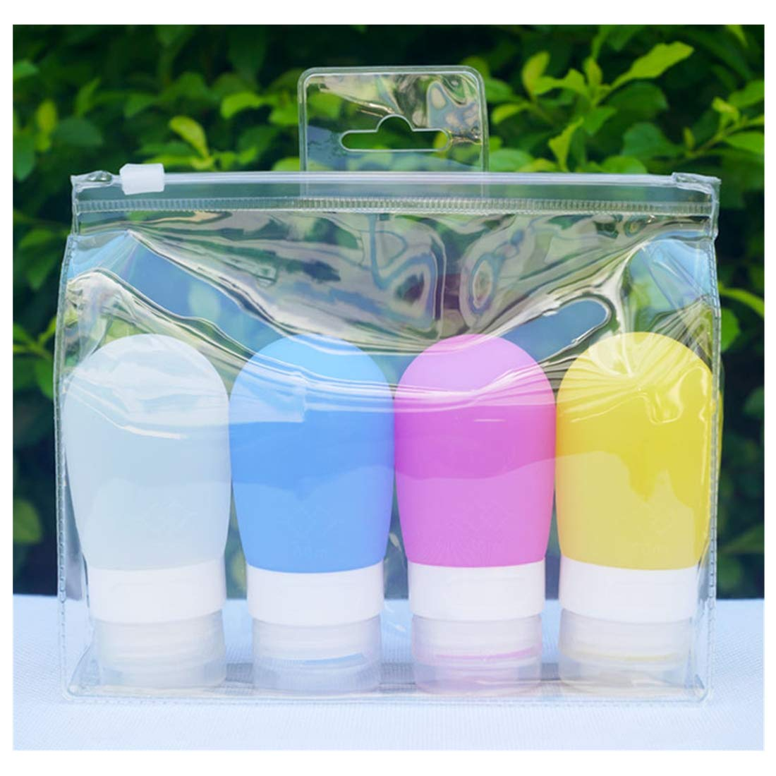 Travel Bottles Silicone Containers Set, Maeeli Leakproof Squeeze Bottles with Clear Bag TSA Approved Travel Accessories for Toiletries Cosmetic Shampoo