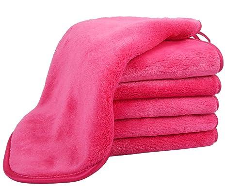 VIVOTE Paños desmaquillantes de microfibra, toallitas limpiadoras reutilizables, ultra suave y gruesa, 6 toallitas de cara 30 cm x 30 cm