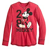 Disney Mickey Mouse Long Sleeve Thermal Tee for Men Size MENS L Red