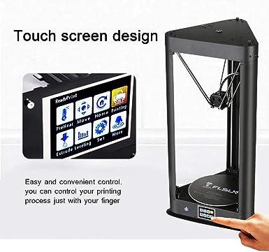 FLSUN Impresora Delta 3D premontada con tamaño de impresión φ260X370 Nivelación automática Pantalla táctil WIFI Control remoto Cama calefactada Nivelación ...