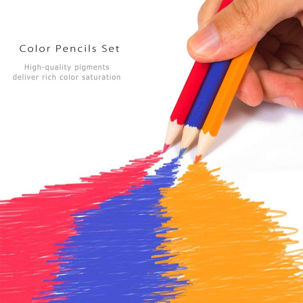 Lápices de colores, juego de lápices con 36 lápices de colores ...