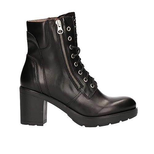 1c4c5575394 Nero Giardini A807065D - Botas de Cuero para Mujer Negro Negro  Amazon.es   Zapatos y complementos