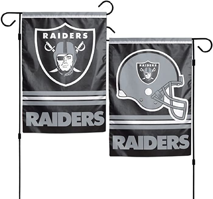 Wincraft NFL Oakland Raiders Garden Flag, 12 Inches by 18 Inches, 2 Sided, Team Color
