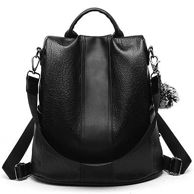 a2b1edc758dd Amazon.com  LoZoDo Women Backpack Purse Waterproof Anti-theft Rucksack  Lightweight Shoulder School Bags for Girls (Black1)  Shoes