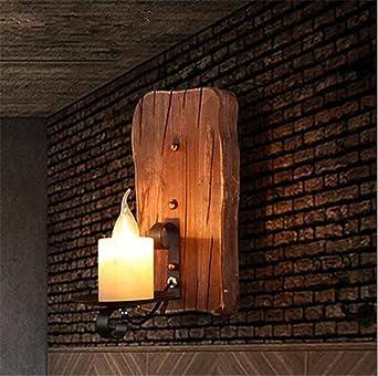Wunderbar Wandleuchte Single Head Industrial Vintage Retro Massiv Holz, Metall Malerei  Gemälde Für Home Hotel Flur