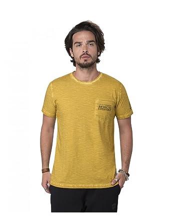 e76ad011f0835 Condor scents - T-shirt délavé à l'acide, col rond, poche poitirine ...