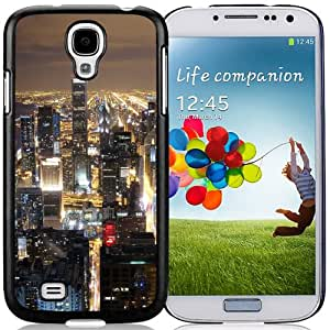 Fashionable And Unique Designed Cover Case For Samsung Galaxy S4 I9500 i337 M919 i545 r970 l720 With Chicago Skyline_Black Phone Case