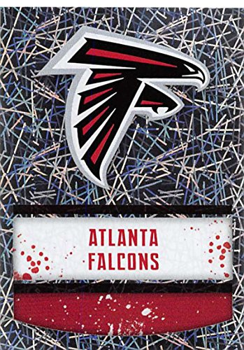 (2018 Panini NFL Stickers Collection #331 Atlanta Falcons Logo Foil Official Football)