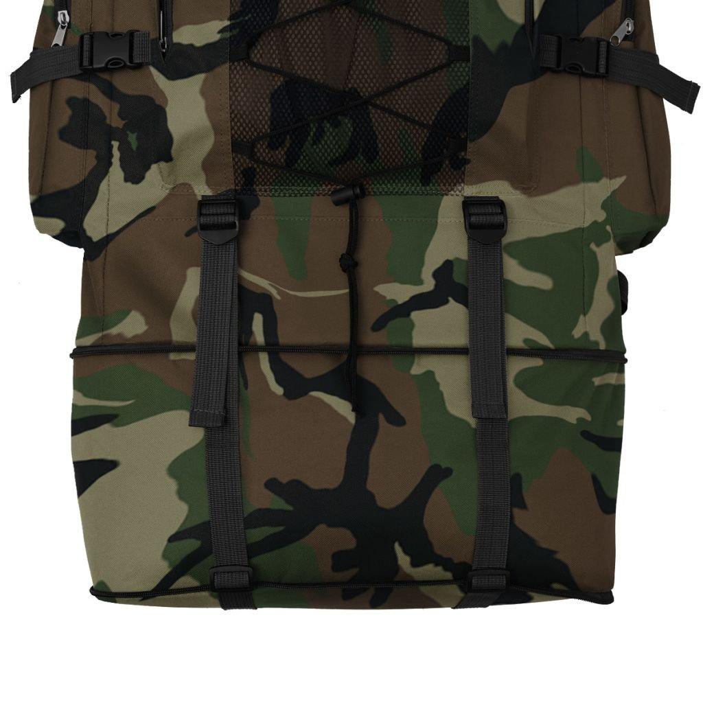 51a2272795 vidaXL Sac à Dos en Style Militaire pour Camping randonnée 40/65/100 L  Multicolore: Amazon.fr: Sports et Loisirs