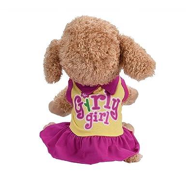 1de286836 Amazon.com: Letdown Pet Dress, Hot Sale,Cotton Blend Cat Cute Summer ...