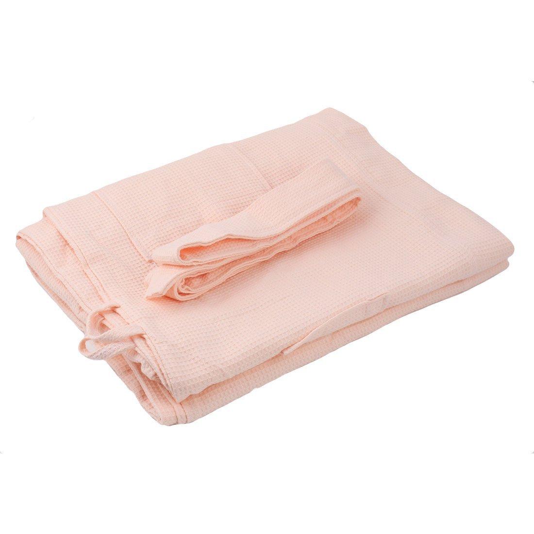 eDealMax Cotton Lady Waffle Kimono accappatoio con Cintura Spa Robe ginocchio Sleepwear XXL Rosa