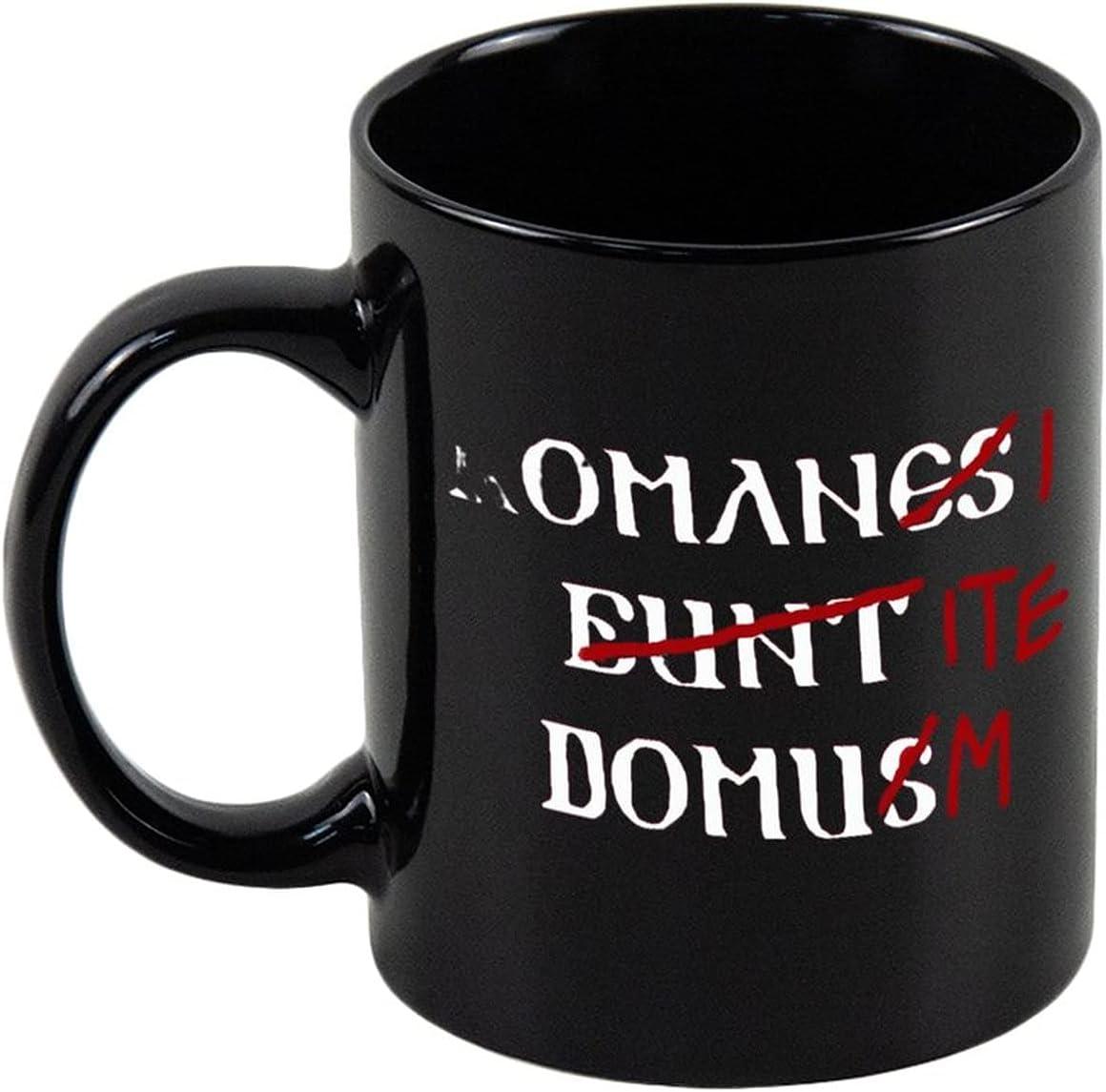 Romans Go Home 11oz Black Ceramic Coffee Mug Tea Mug For Your Mom, Dad, Men Or Women Mug Cup, For Birthday Christmas Anniversary, Holiday Or Graduation