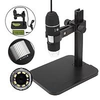 GVESS 1000X 8 LED 2MP del USB del Endoscopio del Microscopio digital C¨¢mara lupa con el Soporte de Elevaci¨®n