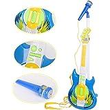 Livebest Electronic blue Guitar MP3 Player & Karaoke Play Set Kids Musical Sing Toy Playset