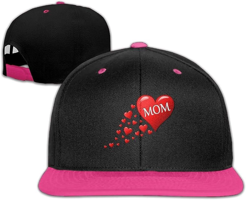 Humaoe Red Heart Love Mom Fashion Peaked Baseball Caps//Hats Hip Hop Cap Hat Adjustable Snapback Hats Caps for Unisex