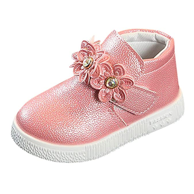Botas de Zapatillas Bebé Niñas, LANSKIRT Zapatos Bebé Niñas Niños Casuales Flores Mantener Caliente Zapatos Bebé el Corte Ingles con Velcro: Amazon.es: ...