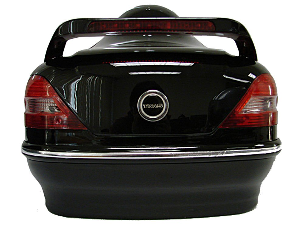 Gloss Black Motorcycle Cruiser Scooter Hard Trunk Top Case W/Mount +Tail Lights + FREE E-Book